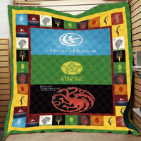 Game of Thrones Stark Lanister 3D Printed Summer Quilt Bed Sofa Blanket For Kids Washable