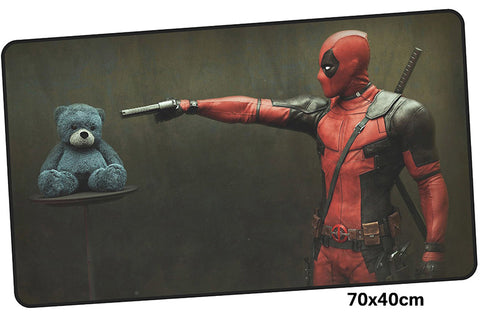 Deadpool Teddy's in Trouble Large Mouse Pad 700x400X3mm Best PC Gaming Pad HD Print