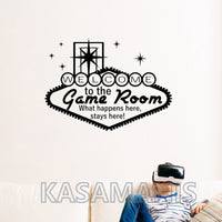 Welcome To The Game Room Wall Art Decal Several Colour Options Available