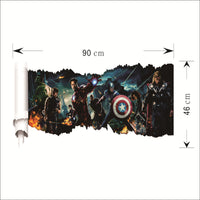 The Avengers 3D Effect Vinyl Decal Wall Art Two Options Available