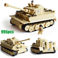 Kazi Military WW2 German Panzer III Ausf L Primary Battle Tank Building Block Set Compatible with Lego