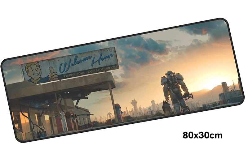 Fallout Welcome Home Giant Mouse Pad 800x300mm Best PC Gaming Pad HD Print