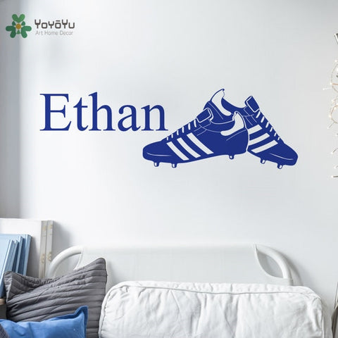 Personalized Football Shoes Vinyl Decal Wall Art Various Colour Options Available