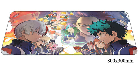 Boku No Hero Academia Characters Large Mouse Pad 800x300x2mm Best PC Gaming Pad HD Print