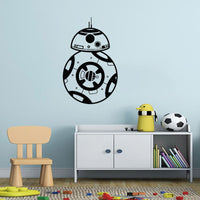 Star Wars BB-8 Wall Decal Vinyl Art Various Colour & Size Options Available