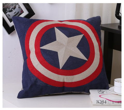 Super Hero & Flags Cushion Covers