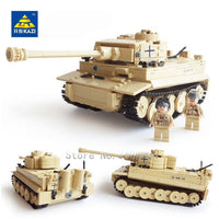 995Pcs German King Tiger Tank Building Blocks Sets Compatible LegoINGs Military WW2  Army Soldiers DIY Bricks Toys for Children