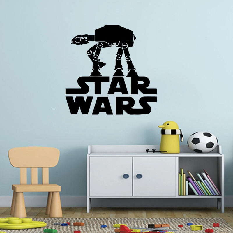 Star Wars AT-AT Walker Vinyl Wall Decal Art Multiple Size & Colour Options