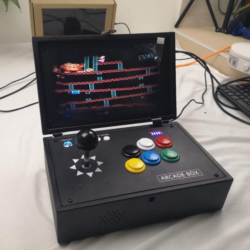 Raspberry Pi 3B 10 Inch LCD Video Game Console Includes 10K Games Installed  Recalbox Mini Arcade Machine