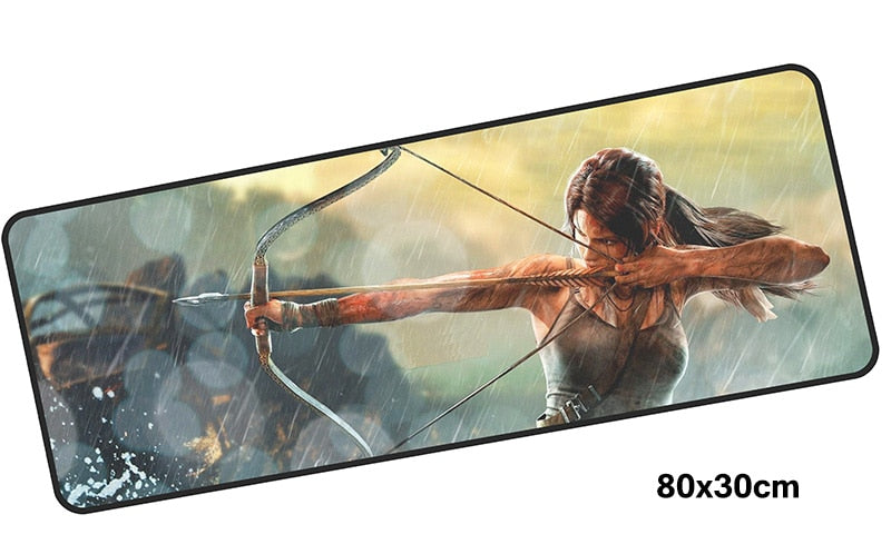 Tomb Raider Lara Fires an Arrow Large Mouse Pad 800x300mm PC Gaming Pad HD Print