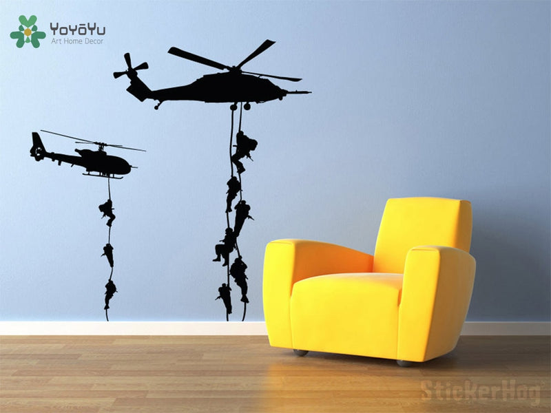 Military Helicopters Special Forces Rescue Team Vinyl Wall Decal Art Multiple Size & Colour Options