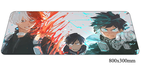 Boku No Hero Academia Color Splash Large Mouse Pad 800x300x2mm Best PC Gaming Pad HD Print
