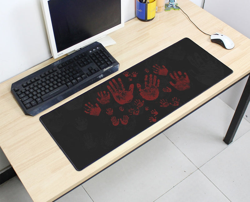 Lots of Bloody Hands Large Mouse Pad 800x300X3MM Best PC Gaming HD Print