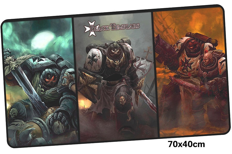 Warhammer 40k Black Templars Large Mouse Pad 700x400mm Best PC Gaming Pad HD Print
