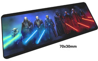 Star Wars Light Sabers Large Mouse Pad 700x300mm Best PC Gaming Pad HD Print