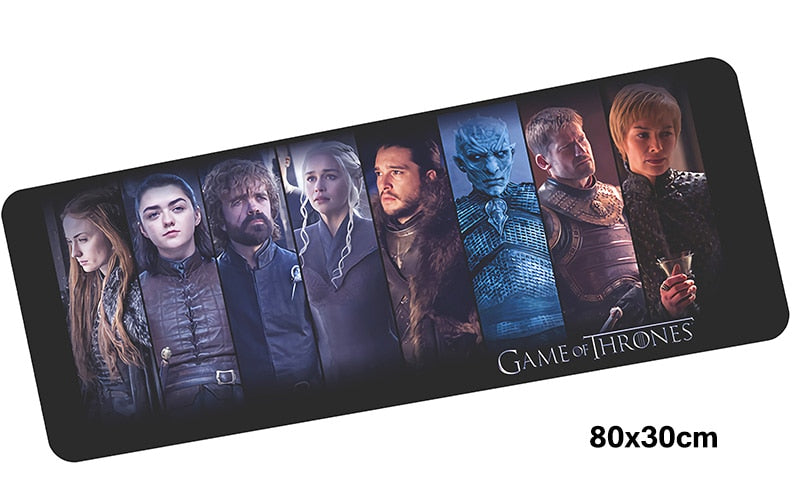 Game of Thrones Eight Characters Large Mouse Pad 800x300mm Best PC Gaming Pad HD Print