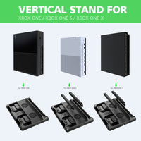 OIVO Dual Controller Charge Station For Xbox ONE S X Games Charging Dock Cooling Vertical Stand Charger for Xbox ONE/S/X Console