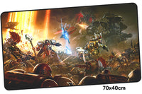 Warhammer 40k Battle Scene Large Mouse Pad 700x400mm Best PC Gaming Pad HD Print