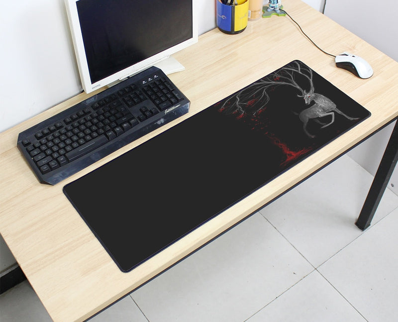 Large Mouse Pad Deer & Bloody Tree 800x300X3MM Best PC Gaming Mouse Pad HD Print