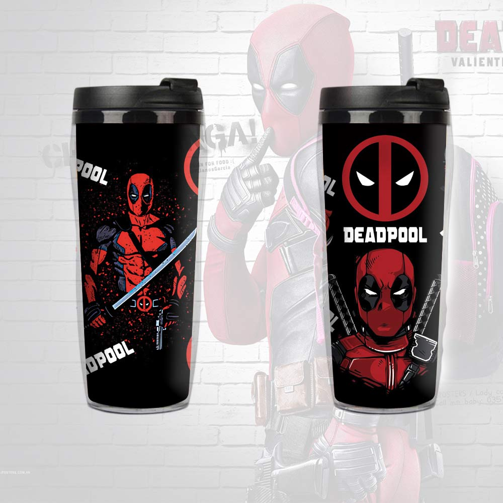Marvel Avenger Deadpool 400ml Drink & Coffee Insulated Vacuum Cup