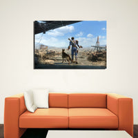 Fallout 4 Man and a Dog Game Modern Décor Wall Art Canvas HD Print