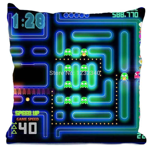 Pacman Gamer Throw Cushion Cover