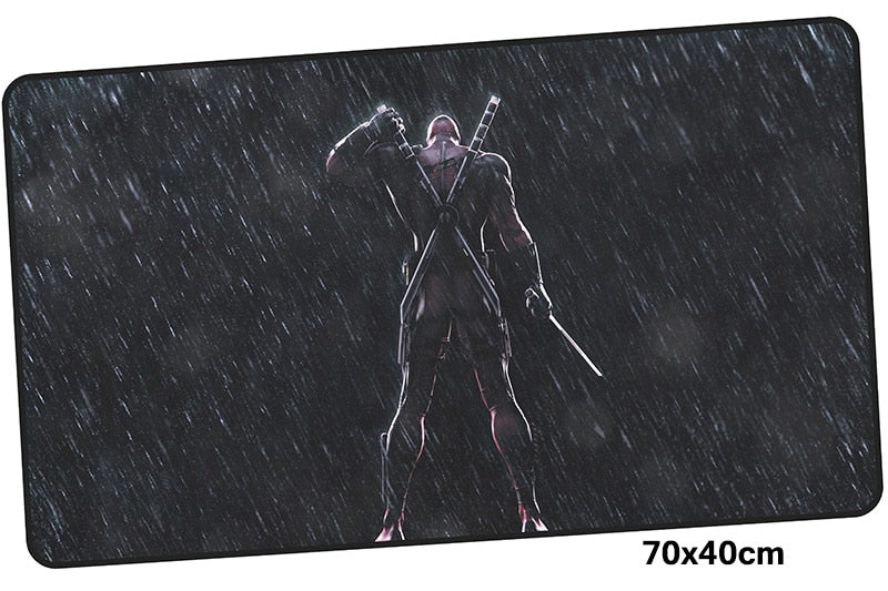 Deadpool in the Rain Large Mouse Pad 700x400X3mm Best PC Gaming Pad HD Print
