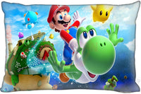 F16 Super Mario Bros Custom Zippered Rectangle Pillow Cover Cases