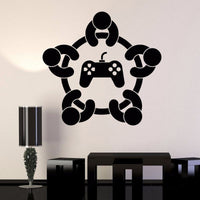 Game Tournament Wall Decal Vinyl Art Various Colours & Size Options Available