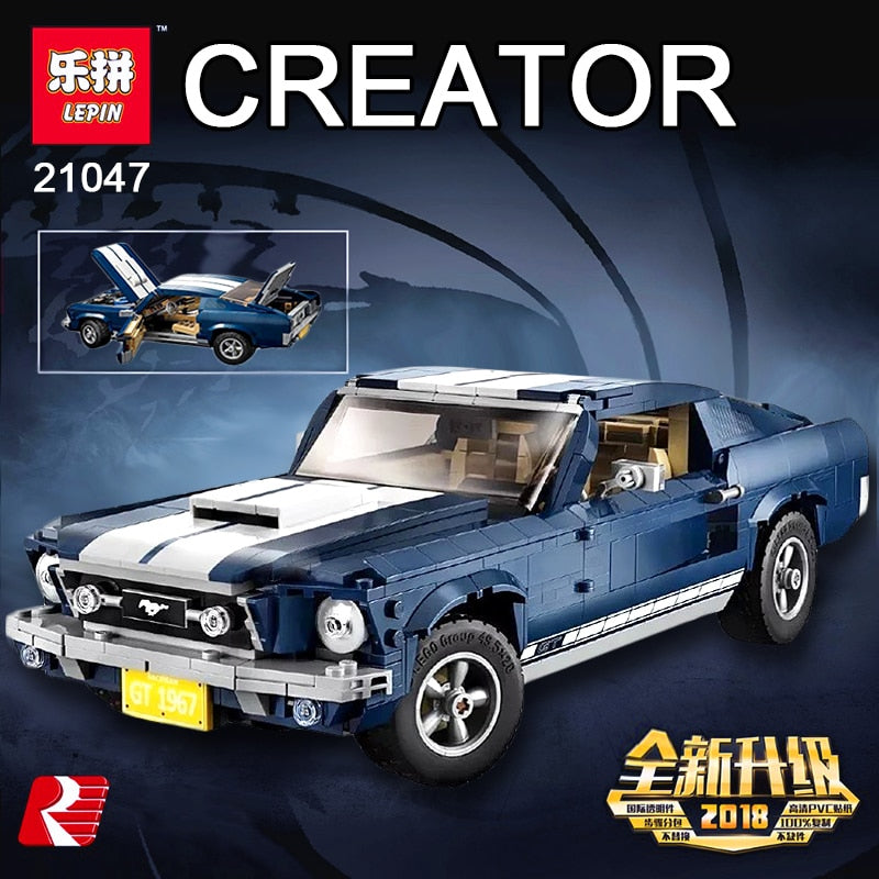 LEPIN 21047 Creator Expert Ford Mustang Compatible Legoing 10265 Set Building Blocks Bricks Assembled DIY Toys Birthday Gifts