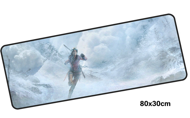 Tomb Raider Avalanche Lara Large Mouse Pad 800x300mm Best PC Gaming Pad HD Print