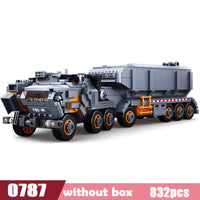 832pcs Movie Collector's Edition Series Wandering Earth Flint Carrier Small Particle Boy Military Legoings Building Blocks