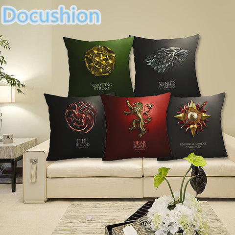 Game of Thrones House Banner Linen Square Decorative Throw Pillow Case Cushion Cover