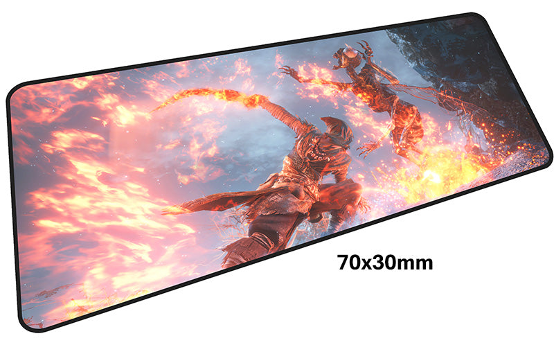 Dark Souls Fiery Death Large Mouse Pad 700x300mm Best PC Gaming Pad HD Print