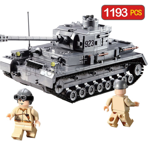 KAZI Large IV Tank 1193pcs Building Blocks Military Army model set Educational Toys for Children Compatible LegoINES