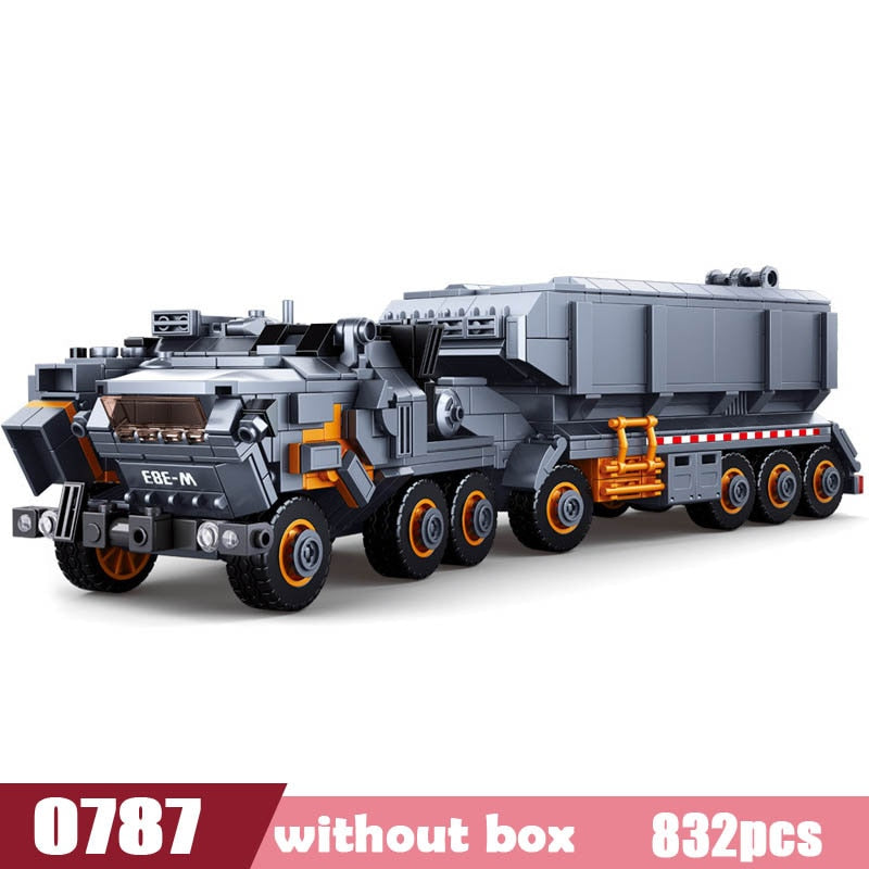 Movie Collector's Edition Series Wandering Earth Flint Carrier Building Block Set Compatible with Lego
