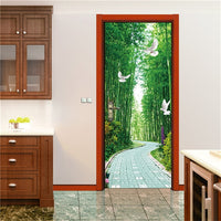 Door Wallpaper Vinyl Decals Removable 3D Door Stickers 29 Options Available