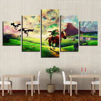 5 Panel Legend of Zelda Modern Décor Wall Art Canvas HD Print