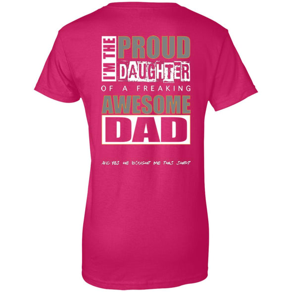 Women T-Shirt (Back) - Proud Daughter of Dad