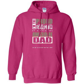 Hoodie (Front) - Proud Daughter of Dad