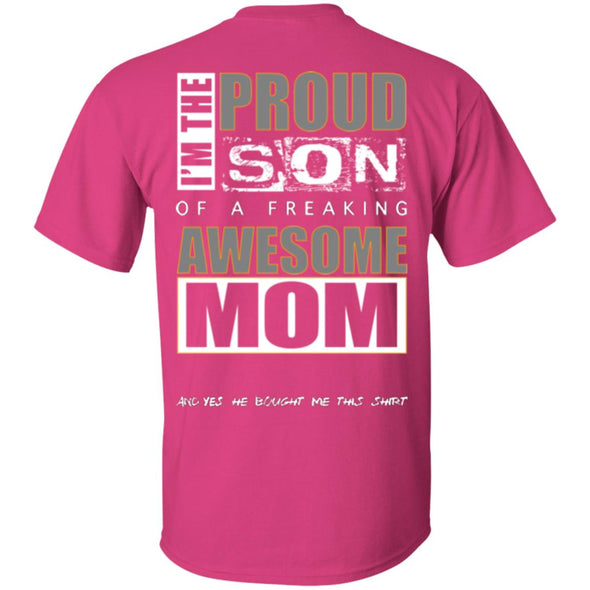 Men T-Shirt (Back) - Proud Son of Mom