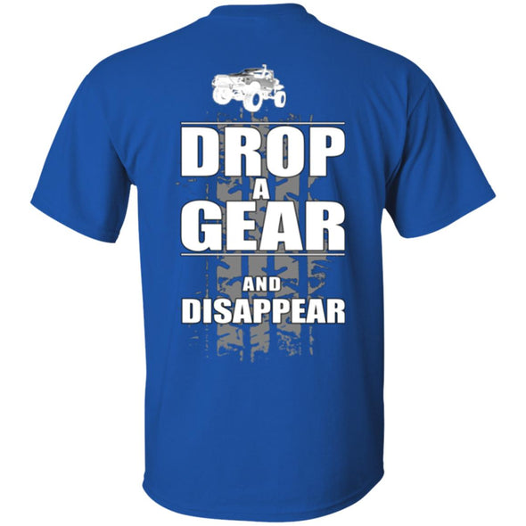 Men T-Shirt (Back) - Drop a Gear Dirt truck