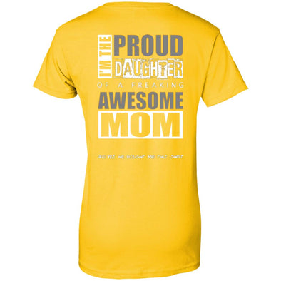 Women T-Shirt (Back) - Proud Daughter of Mom