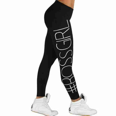 Boss Girl Fitness Leggings | Black-Leggings-SHED71-Black-L-SHED71