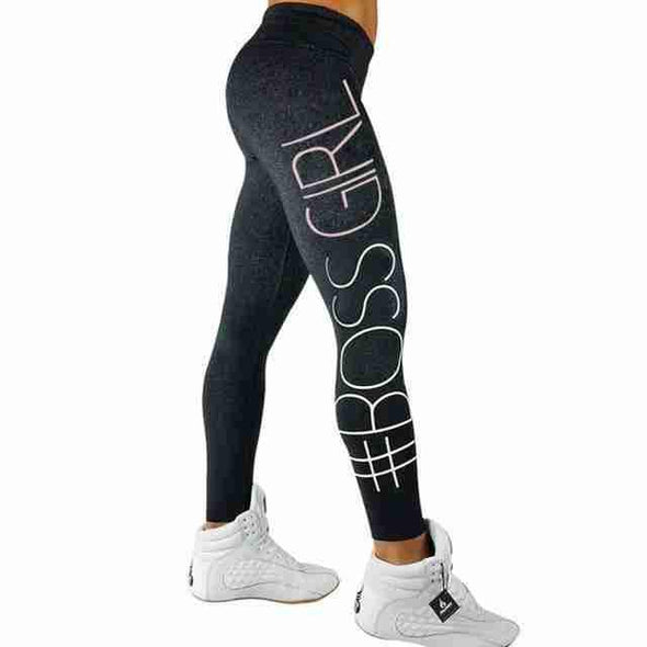 Boss Girl Fitness Leggings | Dark Gray-Leggings-SHED71-Dark Drey-L-SHED71