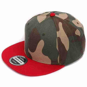 Camo Hip Hop Cap | Red-Caps-SHED71-SHED71
