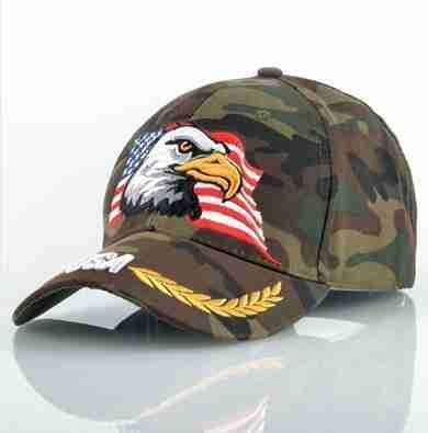 Camo Rebel Caps / American Eagle-Caps-SHED71-SHED71
