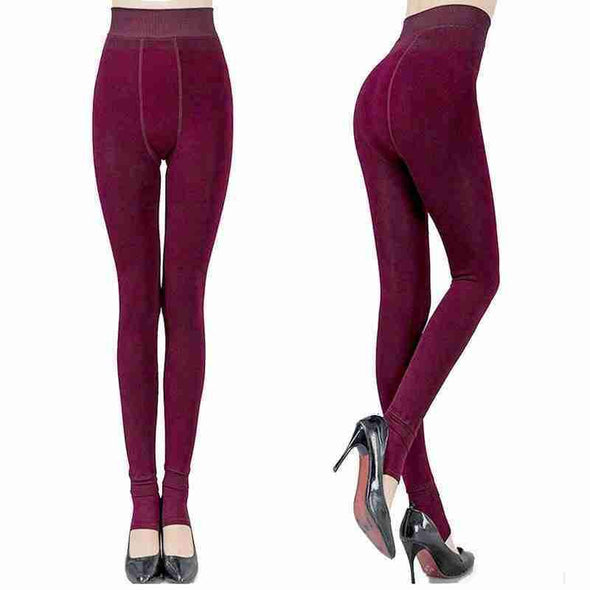 Fashion Winter Warm Leggings | Dark Green-Leggings-SHED71-Red-L-SHED71