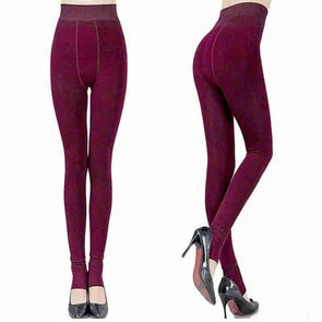 Fashion Winter Warm Leggings | Dark Red-Leggings-SHED71-Red-L-SHED71