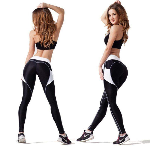 Fitness Leggings w/ Pockets | White-Leggings-SHED71-3061 white-S-SHED71